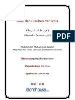 De Ueber Den Glauben Der Schia