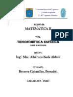 IV UNIDAD-Trigonometría esférica