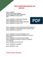 Configuracion Switch