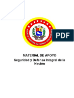 Seguridad y Defensa Integral Del a Nacion