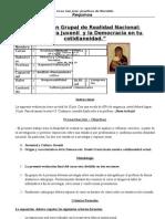 Rùbrica para trabajo de exposicion grupal . Realidad Nacional.