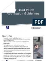 BRP Road Patch Application Procedure & Equipment