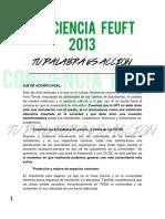 Conciencia UFT - Eje de acción local - FEUFT 2013