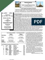 St. Joseph's November 4, 2012 Bulletin
