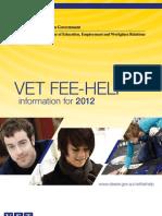 Vet Fee-help 2012 Booklet - Update