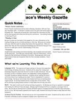 newsletter 11-5-12