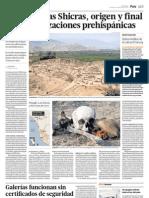 Pisquillo-Las Shicras, origen y final de las culturas prehispánicas