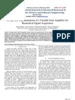 Bio Medical Signal Acquisition
