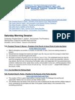 2 - April 2012 Saturday Morning Session