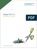 Federal Budget 2012 2013