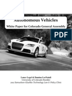 Autonomous Vehicle Policy