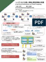 クラウドコンピューティングにおける個人情報と関係情報の保護 (京都大学ICTイノベーション2009 ポスター)