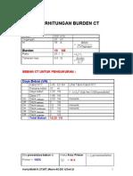 Perhitungan Burden Ct