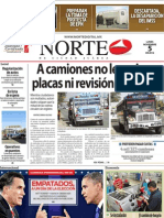 Periodico Norte de Ciudad Juárez 5 de Noviembre de 2012
