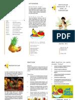 Plegable Festival de Las Frutas