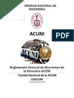 Reglamento de Elecciones de La Mesa Directiva ACUNI (Propuesta a Aprobar) 2012