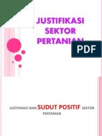 JUSTIFIKASI SEKTOR PERTANIAN