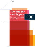 Pwc Low Carbon Economy Index 2012