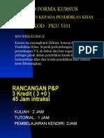 PKU3101 Pengenalan Kepada Pendidikan Khas Nota