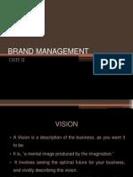 Brand Management Unit II