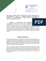 COMISIÓN DE INVESTIGACIÓN Poligono La Fuente-Santa Fe