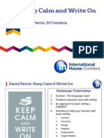 IHTOC3 David Petrie Keep Calm and Write On
