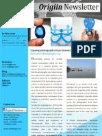 Origiin Newsletter Nov 2012