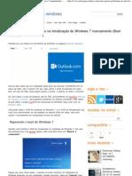 Como reparar problemas na inicialização do Windows 7 manualmente (Boot Loader)