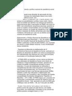 Contextualizando e política nacional da assistência social
