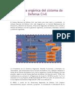 Estructura orgánica del sistema de Defensa Civil