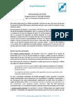Declaração de Voto - Orçamento de Estado 2013 | José Ribeiro e Castro - Assembleia da República, 31-out-2012