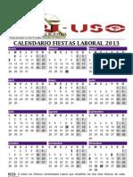Calendario Fiestas Laboral 2013