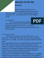 1.Intro. to C#.Net