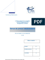 revue de presse hebdomadaire de l'Observatoire de la corruption de Transparency Maroc n°235