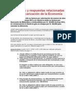 Preguntas y respuestas relacionadas a la Bancarización de la Economía