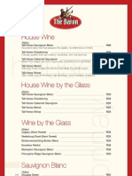The Baron Wine List Woodmead