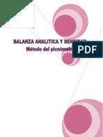 Balanza y Densidad en Picnometro..
