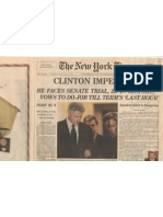 Clinton Impeachment Newspaper from December 20, 1998