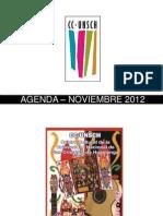 AGENDA – NOVIEMBRE 2012