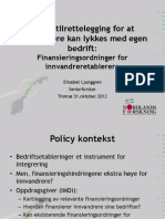 Parallellsesjon 3 - Elisabet Ljunggren - Innvandreretablerere