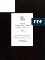 Card From Ronald Reagan Lying in State June 9, 2004
