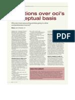 Questions Over OCIs Conceptual Basis