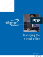How to Manage the Virtual Office blue paper by promotional products retailer 4imprint