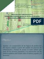 PROCESOS DE URBANIZACIÓN Y TERRITORIALIDADES_Carla Pedrazzani