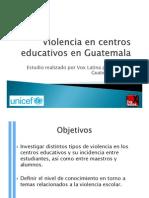 Present Violencia Centros Educ Guatemala