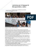 Encierros y protestas por el impago de ayudas a discapacitados y niños autistas