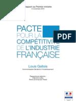 Rapport Gallois -PACTE POUR LA COMPÉTITIVITÉ DE L'INDUSTRIE FRANCAISE