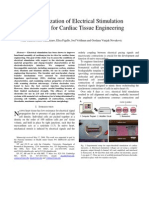Characterization of Electrical Stimulation Electrodes for Cardiac Tissue Engineering