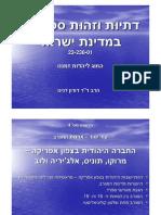 זהות ספרדית- הרצאה 4   יהודי ארצות המגרב (צפון אפריקה)