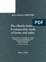 GRIFFITHS, J.A. •  The vihuela fantasia. A comparative study of forms and styles (Monash University, 1983)